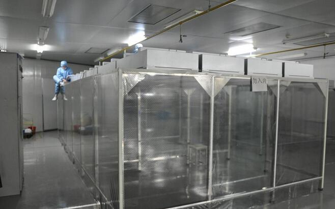 百级(100)防静电网格帘洁净棚