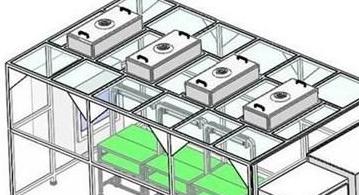钢化玻璃铝型材净化棚